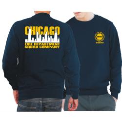 CHICAGO FIRE Dept. Squad Skyline bicolor, azul marino Sweat