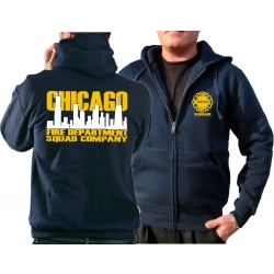 CHICAGO FIRE Dept. Hooded jacket navy, Squad zweifarbige...