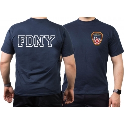 T-Shit navy, New York City Fire Dept. with Brustlogo