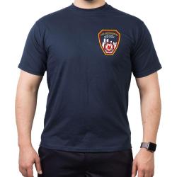 T-Shirt navy, New York City Fire Dept. mit Brustlogo