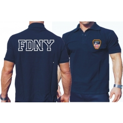 Polo navy, New York City Fire Dept. with fabrigem...