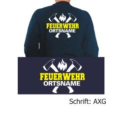 """Sweat Schrift """"AXG"""" FEUERWEHR ORTSNAMEN mit..."""