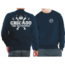 CHICAGO FIRE Dept. axes and flames, SILVER edition, blu...