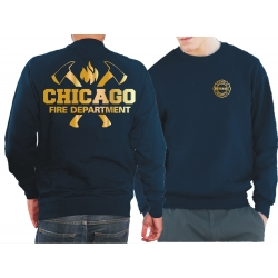 CHICAGO FIRE Dept. axes and flames, GOLD edition, blu...