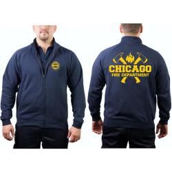 CHICAGO FIRE Dept. Chaqueta de sudor azul marino, con...