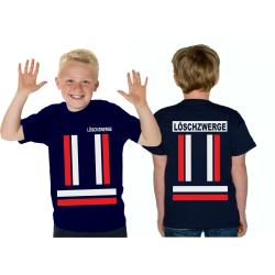 Kinder-T-Shirt marin, LÖSCHZWERGE avec rougedans et...