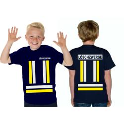 Kinder-T-Shirt marin, LÖSCHZWERGE avec jaunedans et...