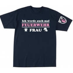 """Kinder-T-Shirt marin, """"Ich werde auch mal FEUERWEHR..."""
