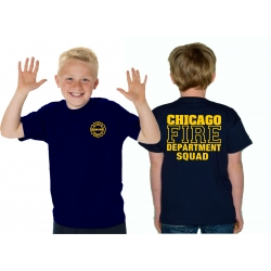 Kinder-T-Shirt navy, CHICAGO FIRE DEPT. SQUAD, in yellow