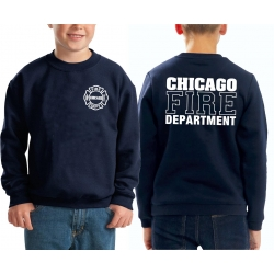 Kinder-Sweat navy, CHICAGO FIRE DEPTARTMENT, in white