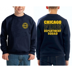 Kinder-Sweat navy, CHICAGO FIRE DEPT.SQUAD, in yellow