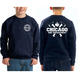Kinder-Sweat azul marino, CHICAGO FIRE DEPT. con ejes y...