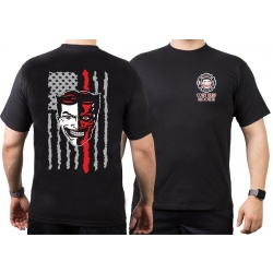 T-Shirt black, New York City Fire Dept. EMS Coney Island,...