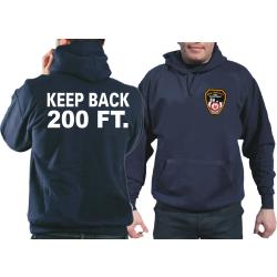 "Hoodie navy, ""KEEP BACK 200 FT."" with Emblem..."