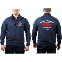 "Sweat jacket navy, ""Dragon Fighters -..."