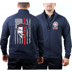 Sweat jacket navy, New York City Fire Dept. EMS Coney...