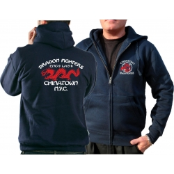 "Hooded jacket navy, ""Dragon Fighters -..."