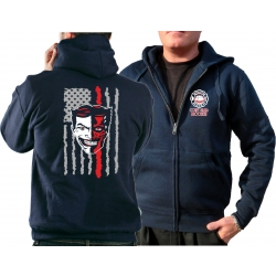 Hooded jacket navy, New York City Fire Dept. EMS Coney...