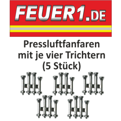 Equipment 1:87 Pressluftfanfaren verchromt with je 4...