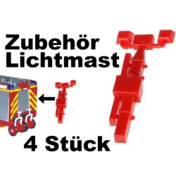 equipo 1:87 Lichtmast (4 Stück)