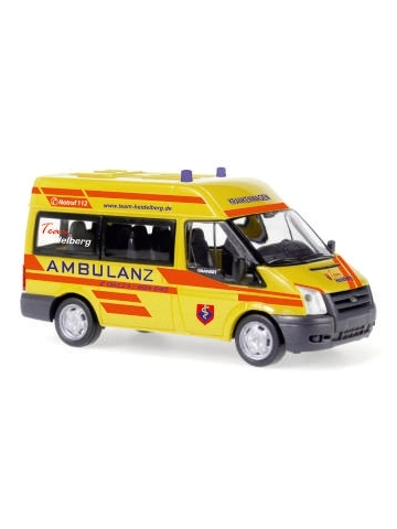 Modello di automobile 1:87 Ford Transit Ambulanz Heidelberg