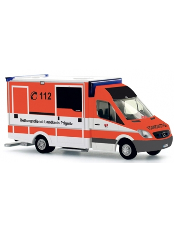 Model car 1:87 MB Sprinter RTW Rettungsdienst Prignitz