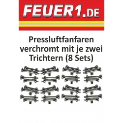 Equipment 1:87 Pressluftfanfaren verchromt je 8 re+li...