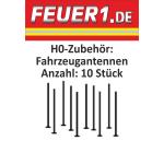 Zubehör 1:87 Dachantennen für große Einsatzfahrzeuge (10 Stück) (FEUER1-Exklusiv-Artikel)